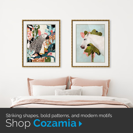 Striking shapes, bold patterns, and modern motifs: Shop Cozamia Art