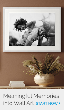Photo to Art | Create wall art from a favorite memory | Start Now >
