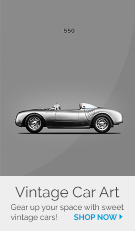 Gear up your space with vintage car art | Shop now!