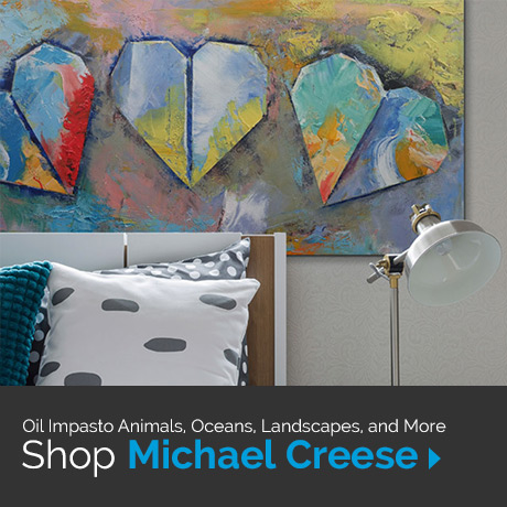 Oil impasto animals, oceans, landscapes, and more. Shop Michael Creese
