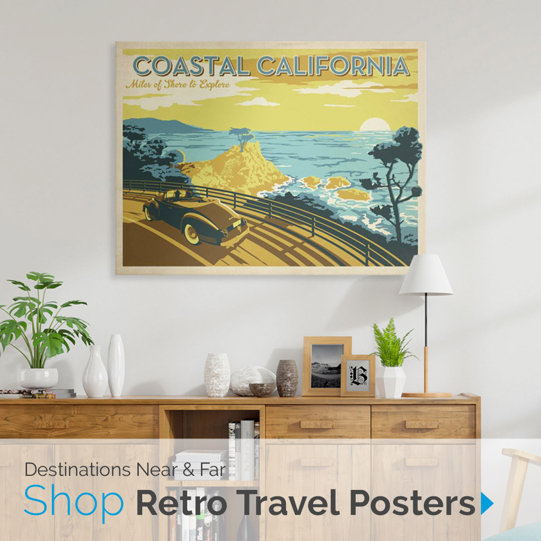 Destinations Near & Far | Shop Retro Travel Posters