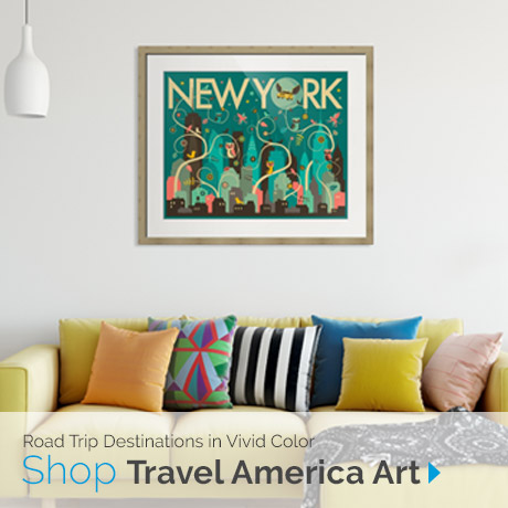 Road Trip Destinations | Shop Travel America Art