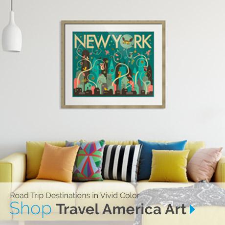 Road Trip Destinations | Shop Travel America Art