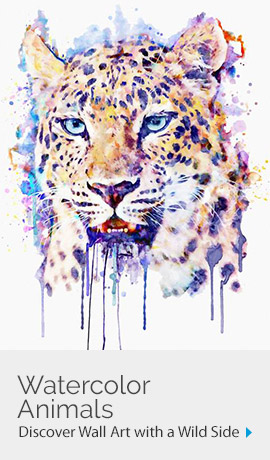 Watercolor Animalss | Discover Wall ARt with a Wild Side